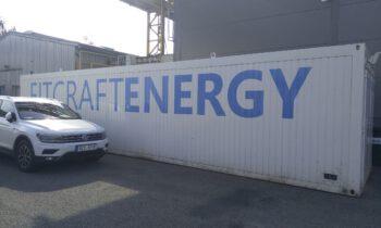 Kontejnerové bateriové úložiště v Hluku
